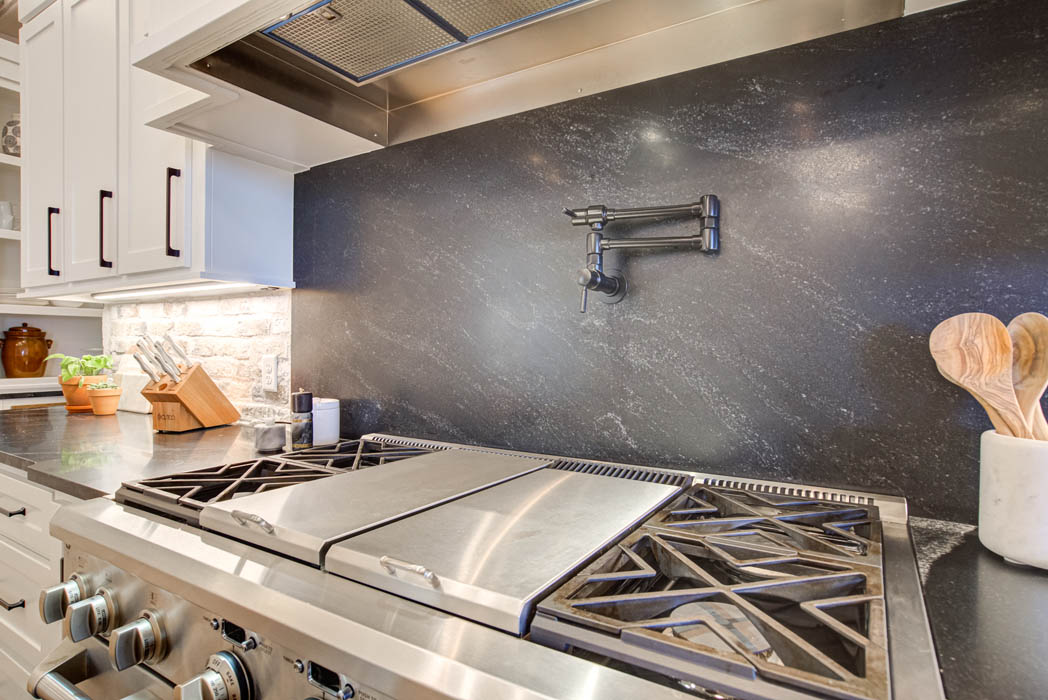 Beautiful, modern kitchen in custom home near Lubbock, Texas.