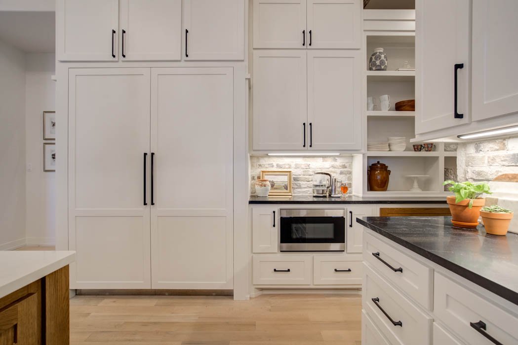 Spacious kitchen with amazing appliances in custom home built in Lubbock, Texas.