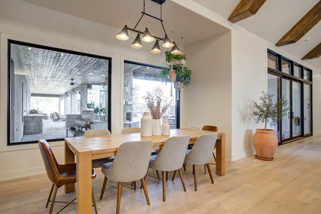Dining area in custom Lubbock area home.