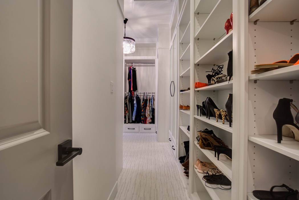 Entry to master closet in beautiful custom home near Lubbock.
