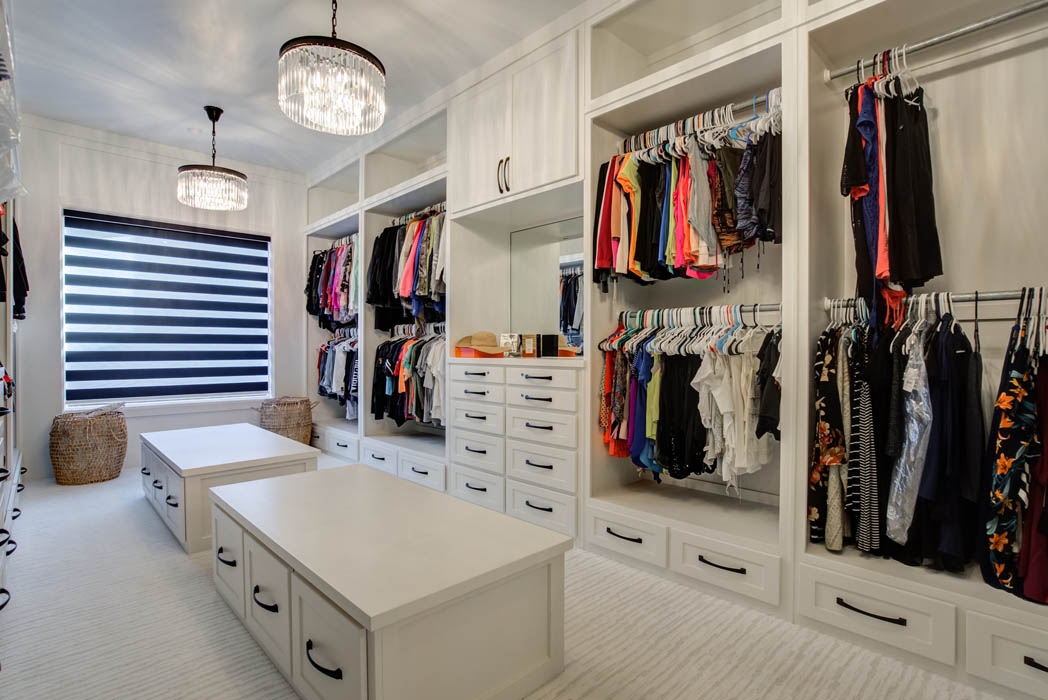 Amazing, spacious master closet in custom home near Lubbock.