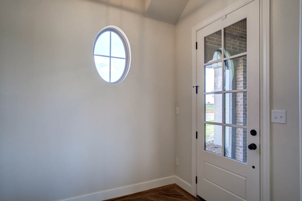 Detail of interior entry in new home in Lubbock, Texas.