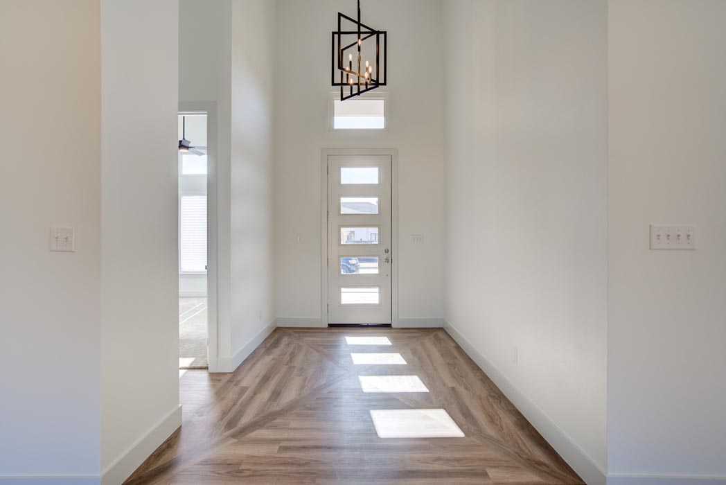 Beautiful entry in home built by Sharkey Custom Homes in the Lubbock area.