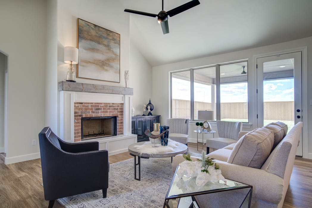 Beautiful living area in Lubbock, Texas home for sale.