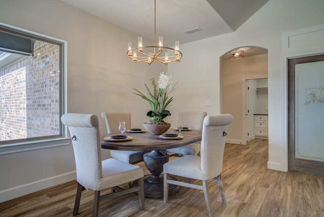Dining area in West Texas home for sale.
