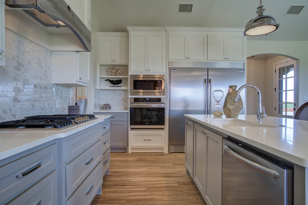 Beautiful kitchen in home for sale in Lubbock, Texas, featuring double oven.