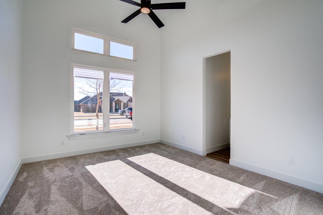 Spacious bedroom in beautiful new home in Lubbock, Texas.