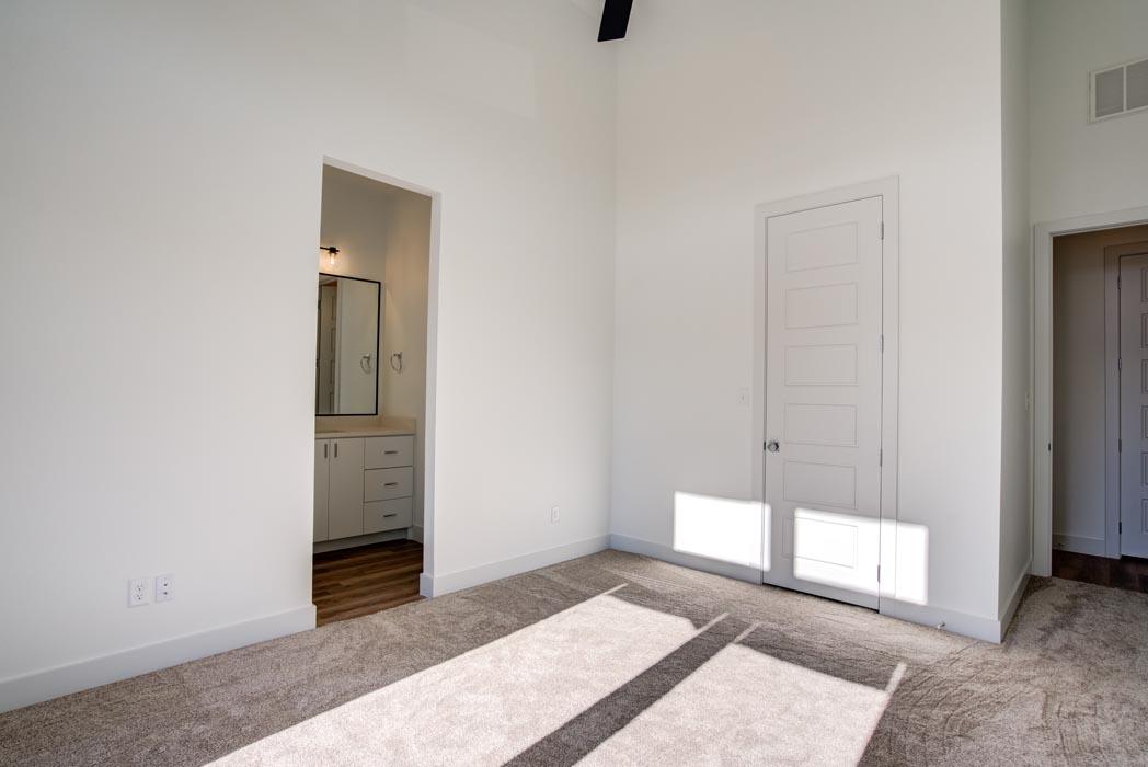 Beautiful bedroom in home built by Sharkey Custom Homes in Lubbock.