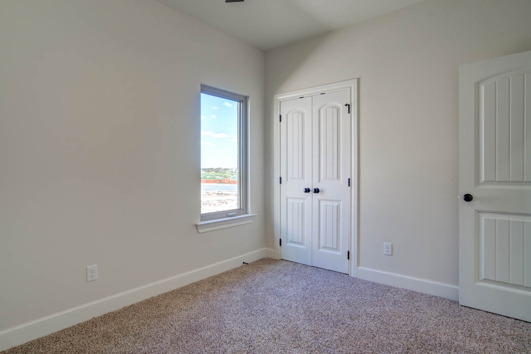 Beautiful bedroom in new Lubbock, Texas home for sale.