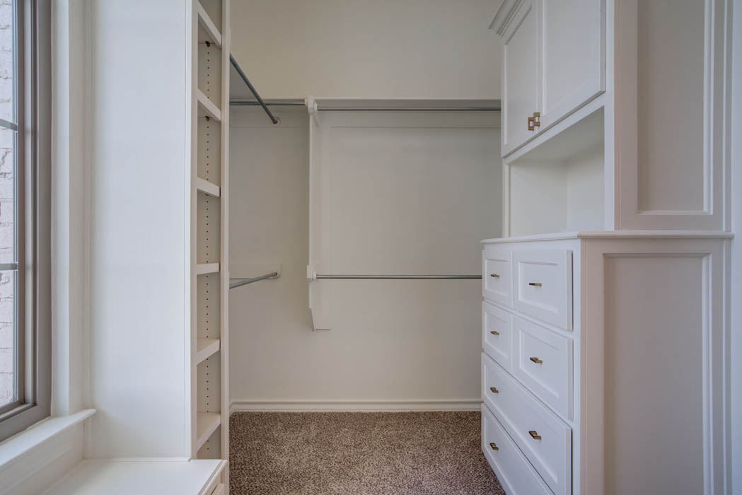Master closet in new home for sale in Lubbock.