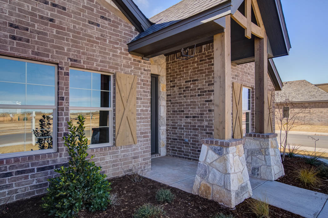 Exterior View of Custom Home in Lubbock, Texas.