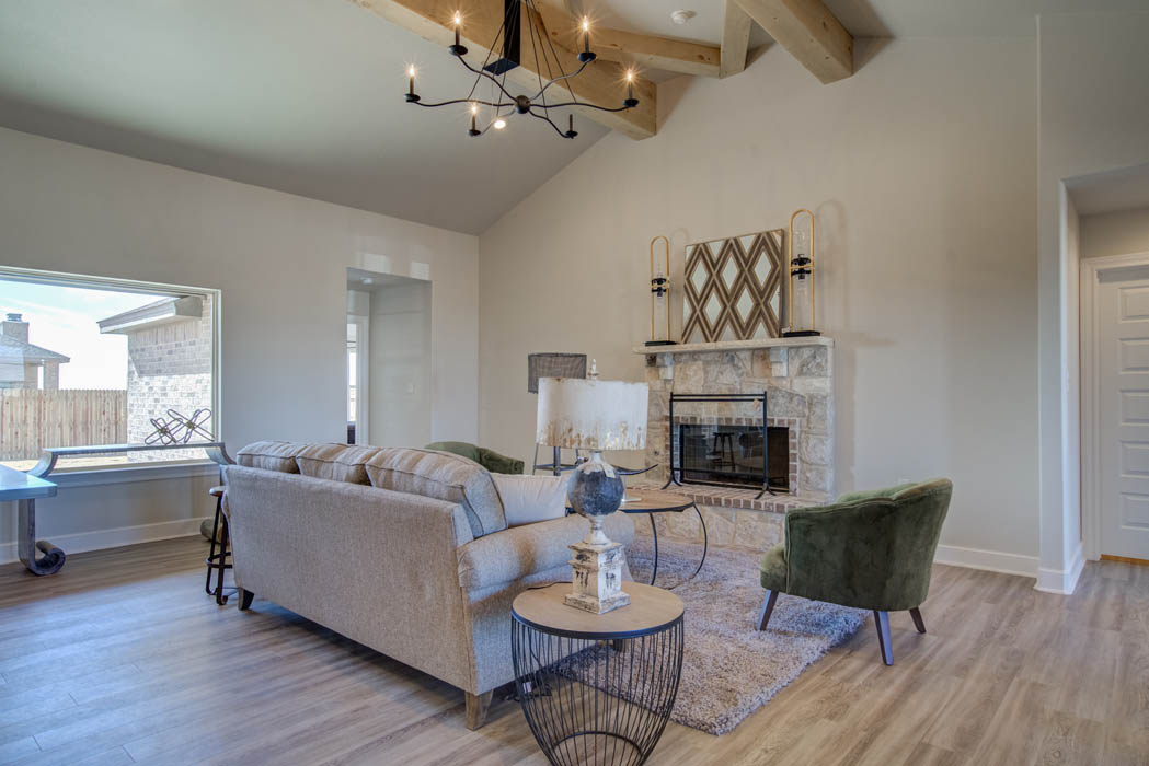 Beautiful Living Area in custom home in Lubbock.