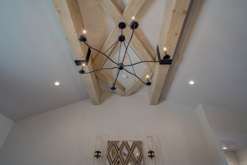 Ceiling treatment in custom home in Lubbock, Texas.
