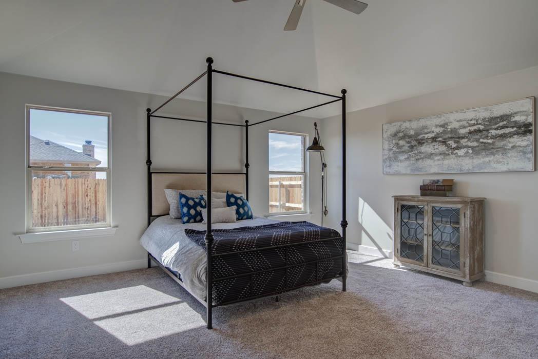 Beautiful bedroom in custom home by Sharkey Custom Homes.