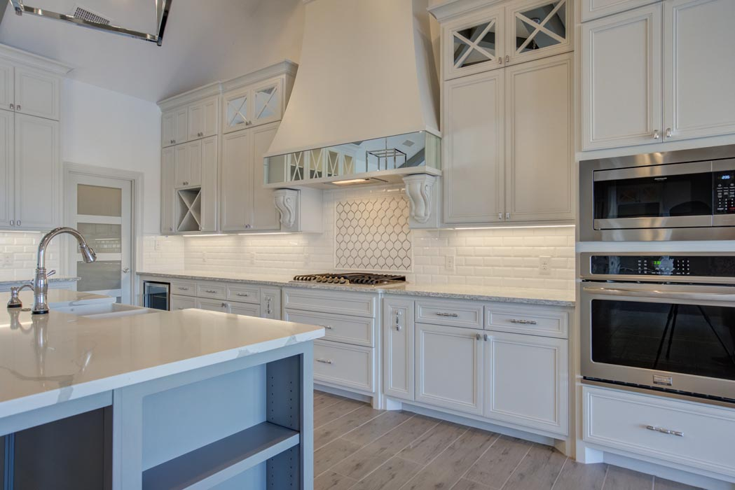 Beautiful kitchen in new home built by Sharkey Custom Homes in Lubbock, Texas.