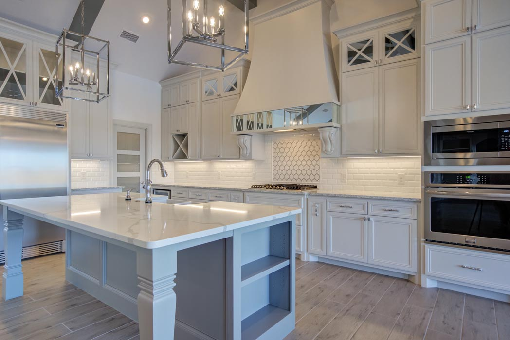 View of spacious kitchen in beautiful new Lubbock home.
