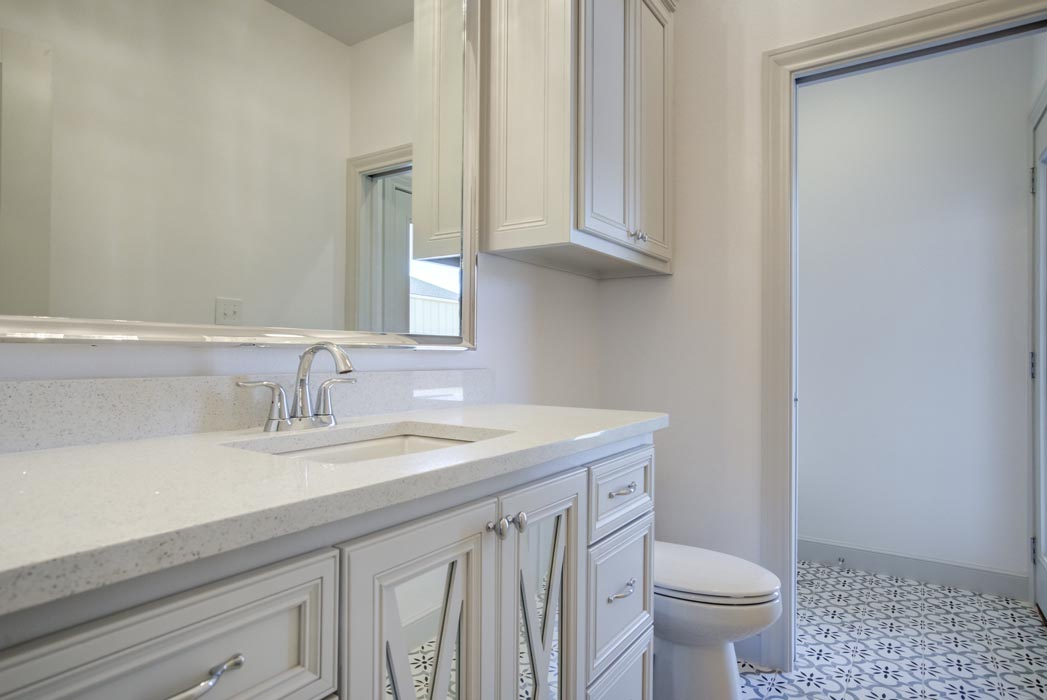 Guest bath in beautiful new home in Lubbock, Texas.