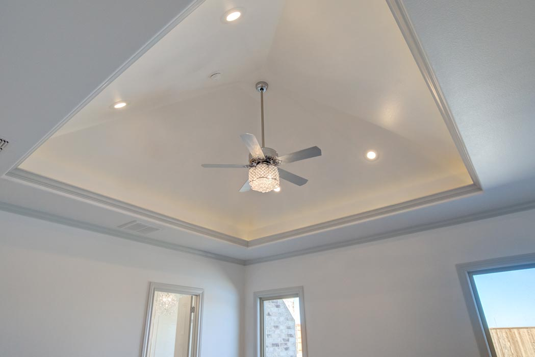 Beautiful ceiling in home built by Sharkey Custom Homes in Lubbock.