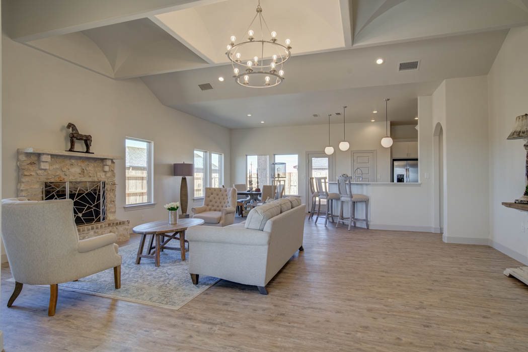 Spacious living area in Lubbock home for sale.