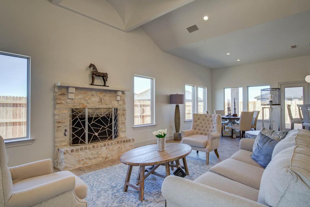 Beautiful open concept living area in Lubbock.