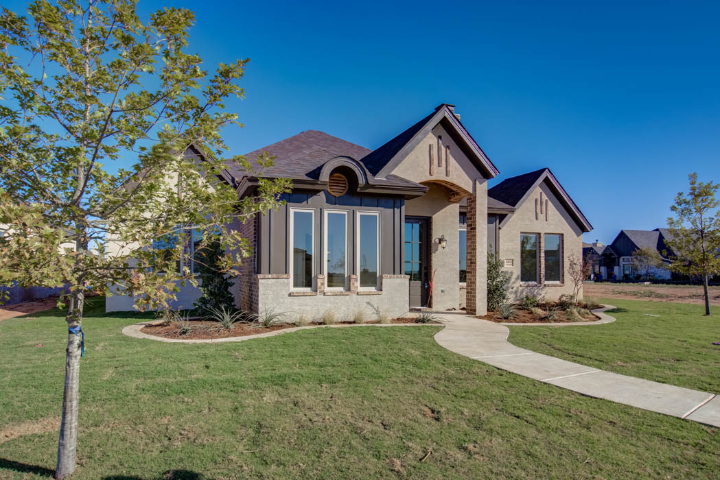Exterior of home for sale in Lubbock, Texas.