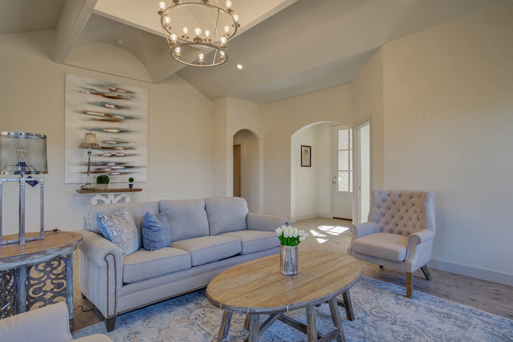 Spacious open concent design in custom home by Sharkey Custom Homes in Lubbock, Texas