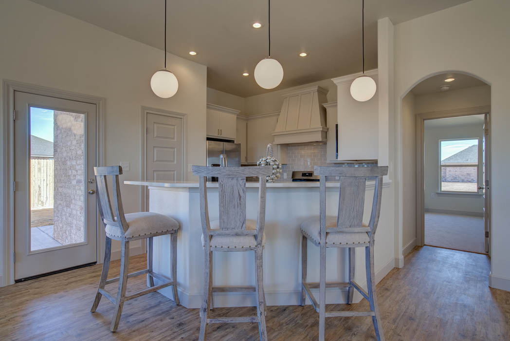 Dining room in custom home by Sharkey Custom Homes in West Texas.