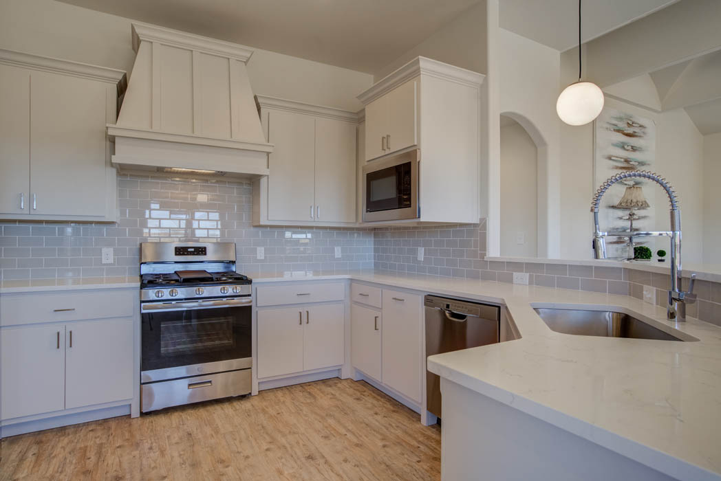 Beautiful kitchen in custom home by Sharkey Custom Homes in West Texas.