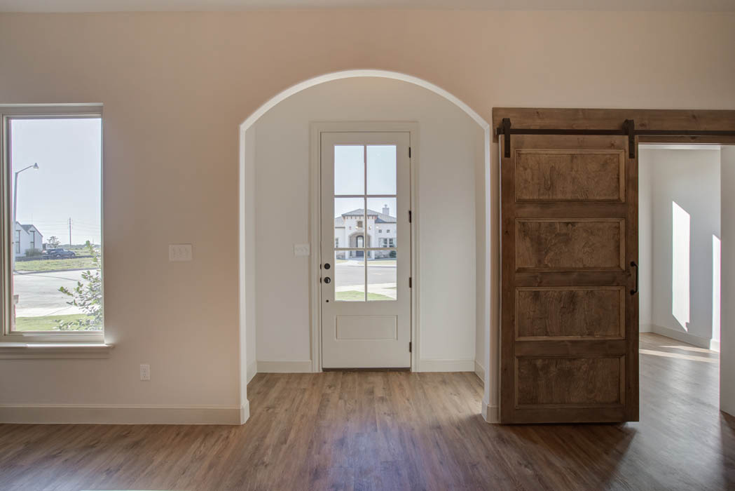 Entry of beautiful house by Sharkey Custom Homes in the Lubbock, Texas area.