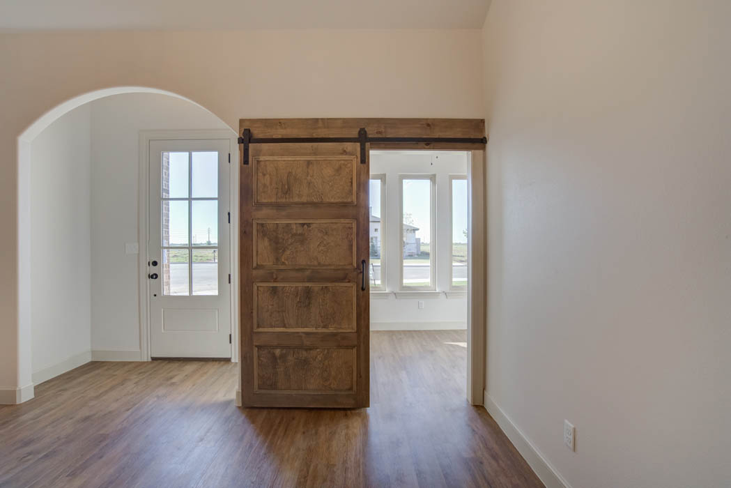 Interior and entry of beautiful new home for sale in Lubbock.