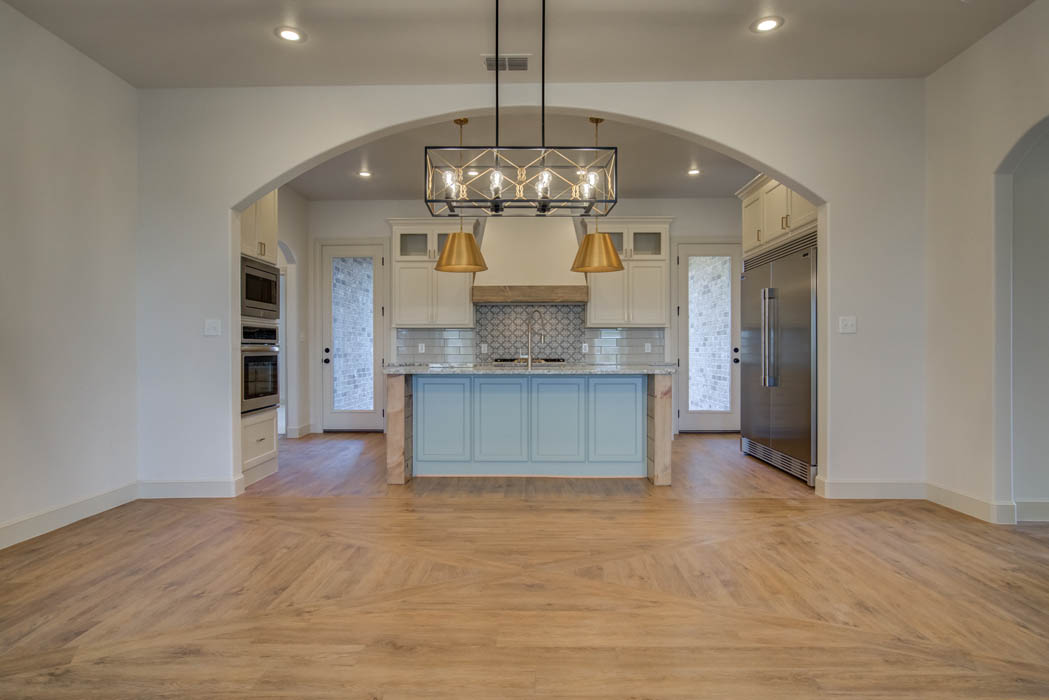 Beautiful kitchen in home for sale in Lubbock, Texas.