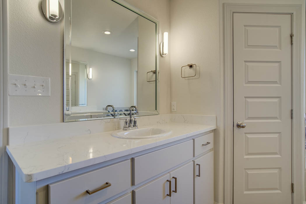 Beautiful bath in custom home by Sharkey Custom Homes.