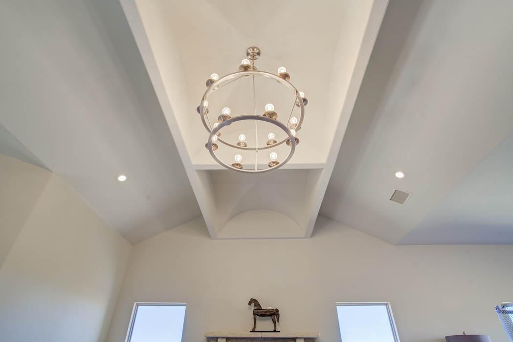 Ceiling in Lubbock custom home.