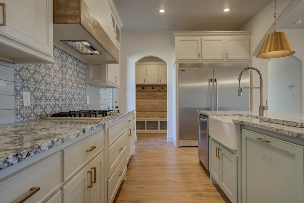 Spacious kitchen in new Lubbock, Texas home.
