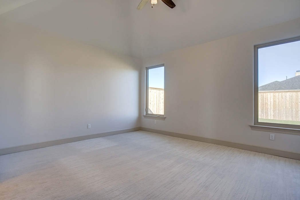 Spacious bedroom in Lubbock area home for sale.
