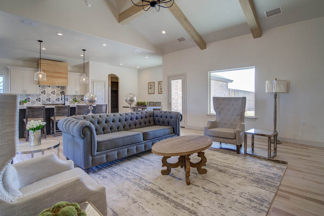 Beautiful open concept living area in Lubbock.