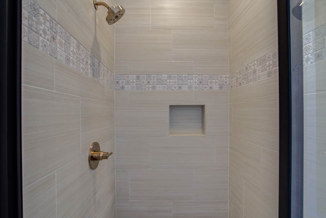Shower in master bath of beautiful new home for sale in Lubbock.