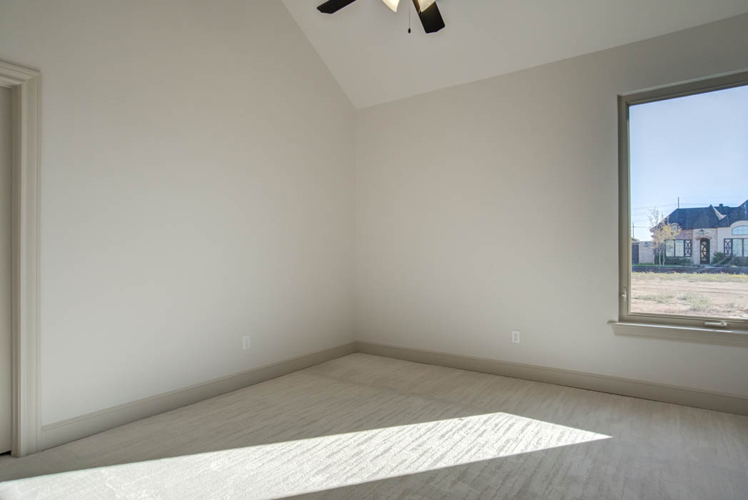 Large bedroom in new home for sale in Lubbock, Texas.