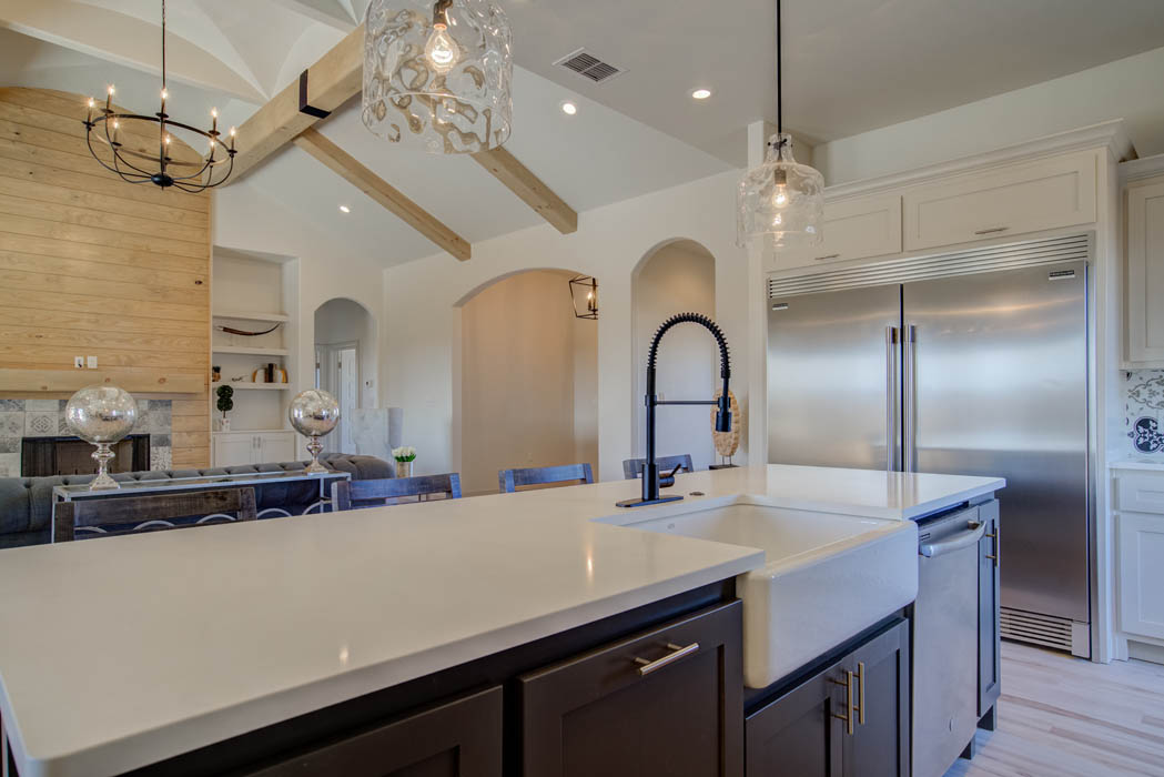 Kitchen in custom home by Sharkey Custom Homes in Lubbock.