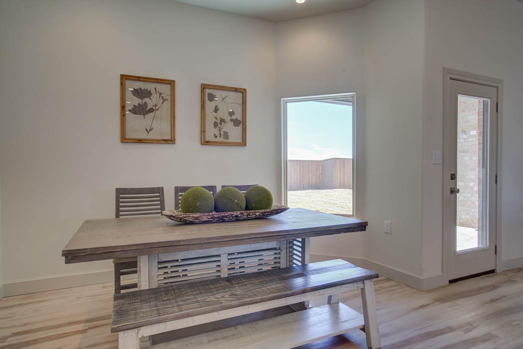 Custom home dining room by Sharkey Custom Homes.
