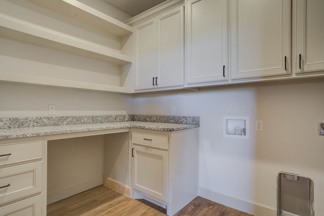 Spacious laundry room in new home for sale in the Lubbock, Texas area.
