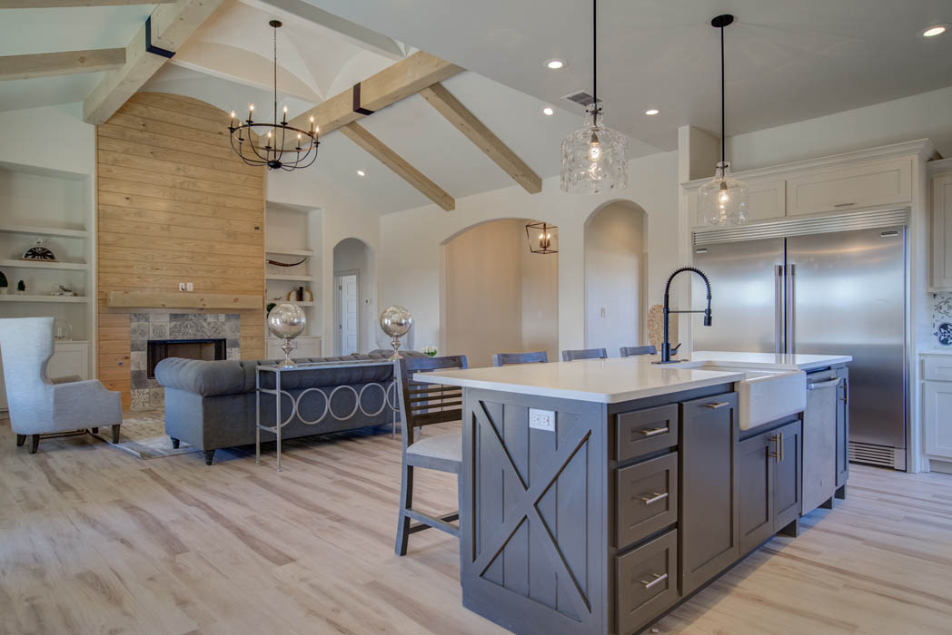Beautiful open concept living and kitchen area.