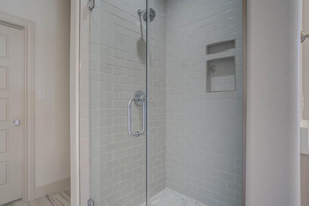 Amazing custom bathroom by Sharkey Custom Homes in Lubbock, Texas.