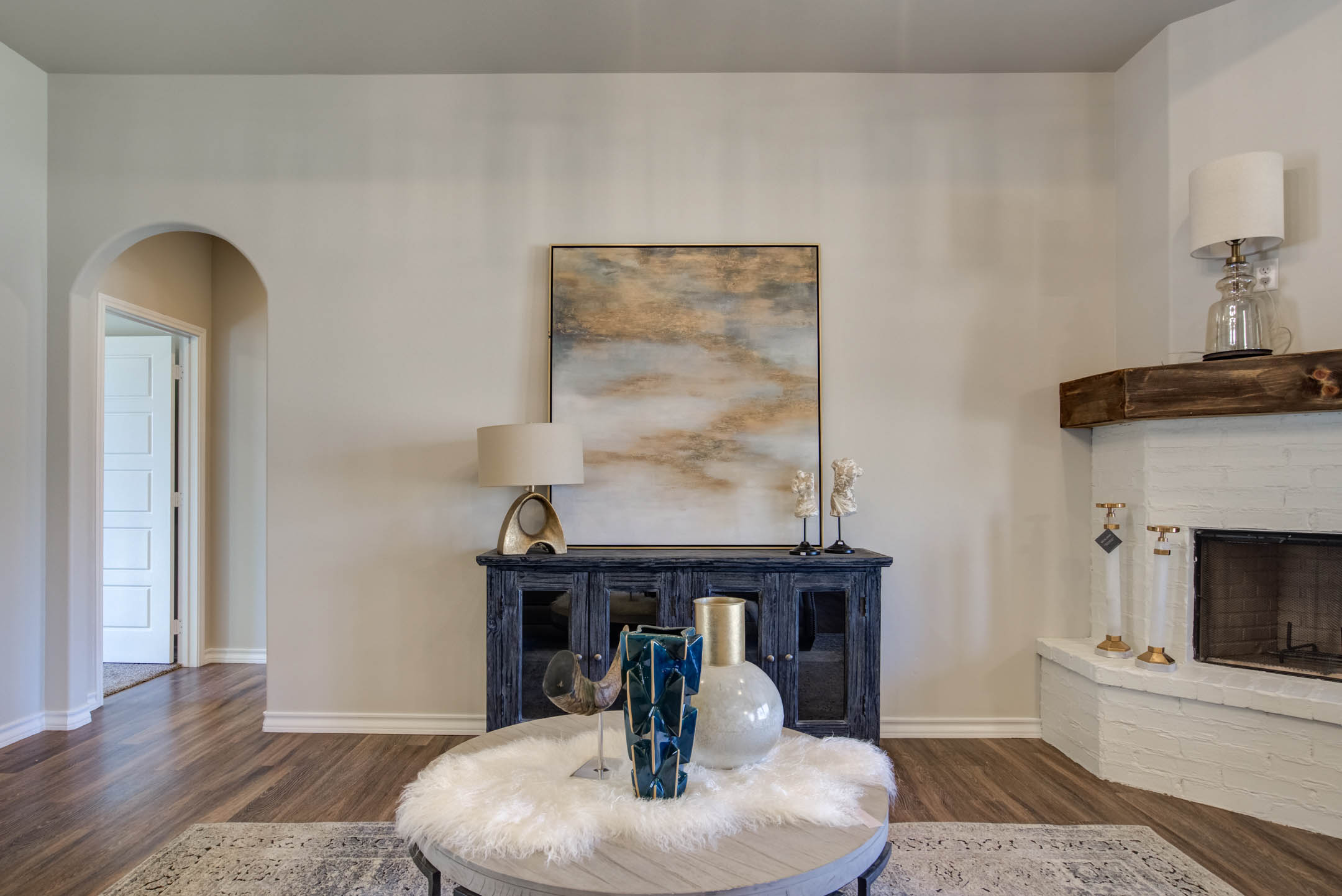 Spacious living area in new home for sale in Lubbock.