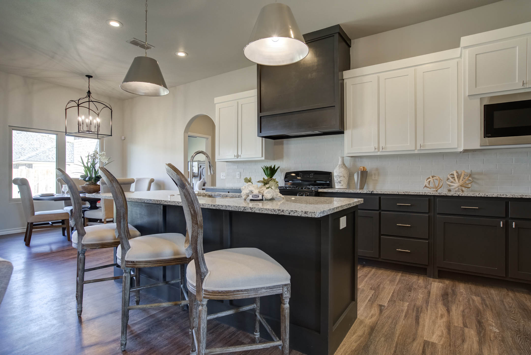Spacious kitchen in new home for sale in Lubbock, Texas.