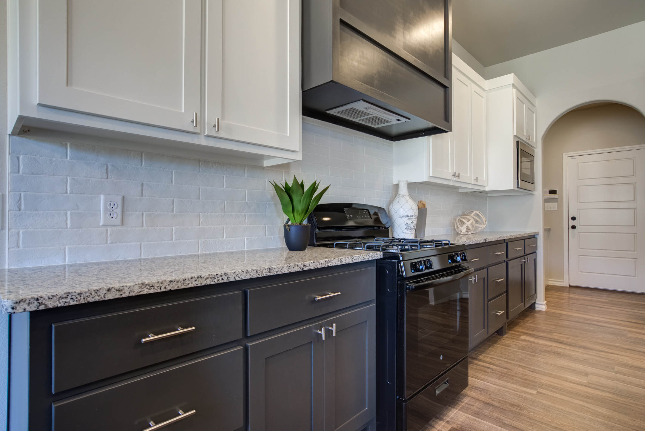 Kitchen with ample workspace in new home for sale in Lubbock, Texas.