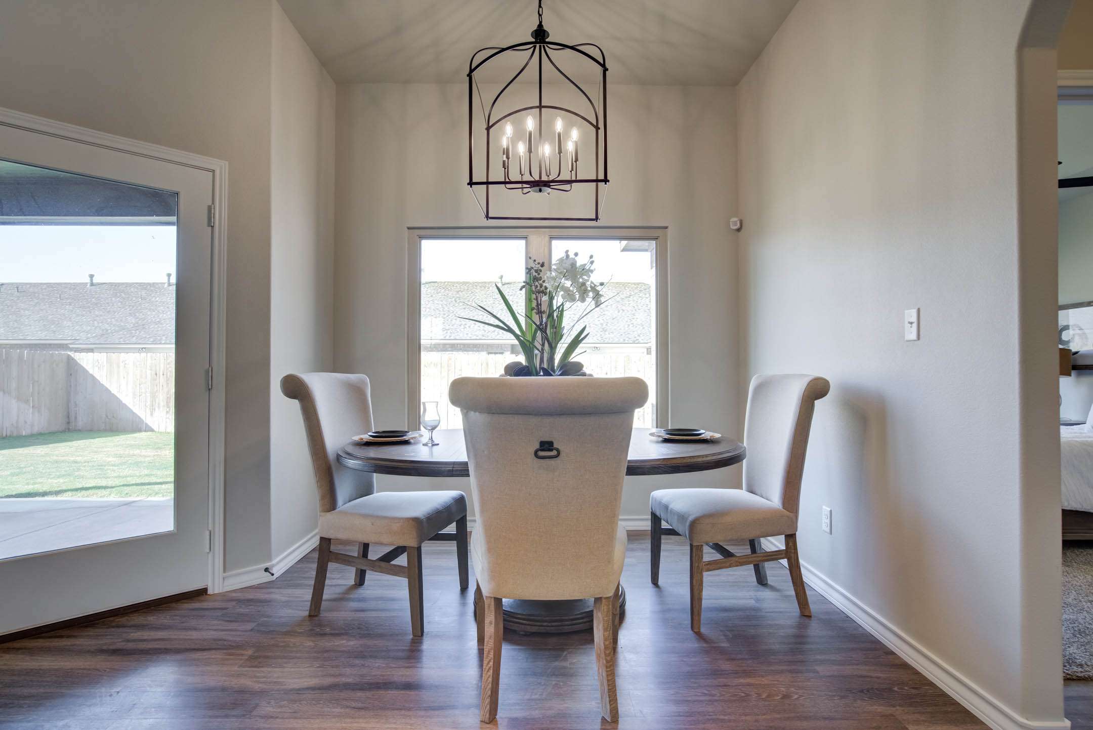Spacious dining area in new home for sale in Lubbock.