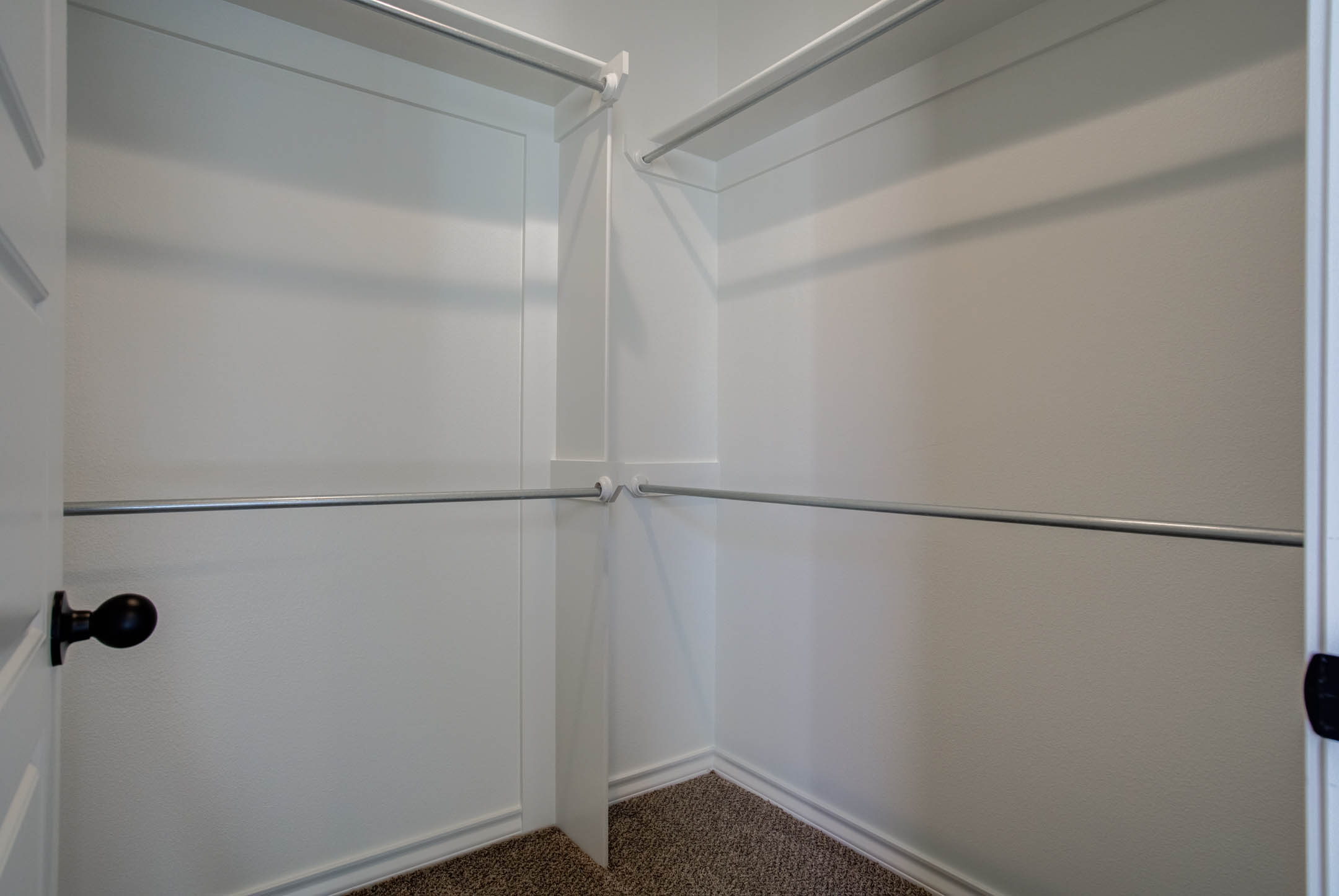 Spacious closet in new home for sale in Lubbock, Texas.