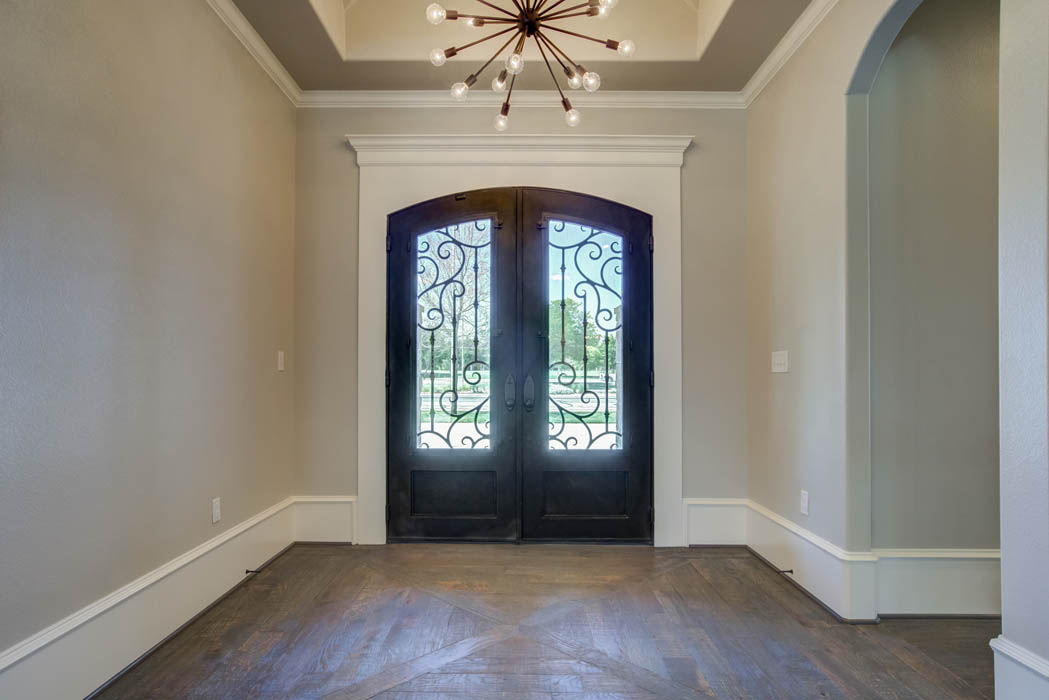 entry of beautiful custom home in Lubbock, Texas