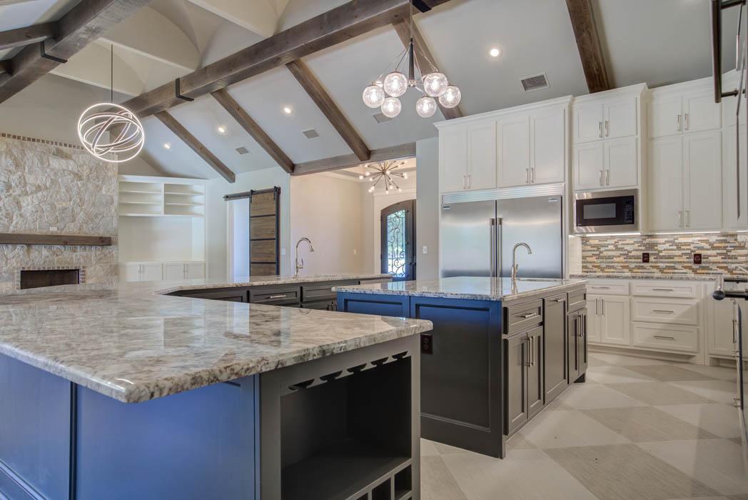 Interior of beautiful custom home in Lubbock, Texas